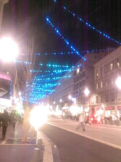 Iluminations avenue J. Médecin devant Nice-Etoile