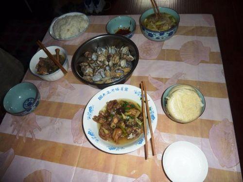 Premier repas à Dalian