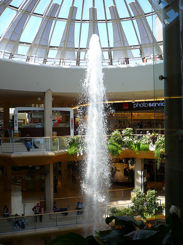 Geyser au centre commercial