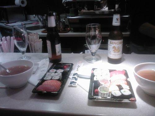 Pause sushis de Lola et de l'ado
