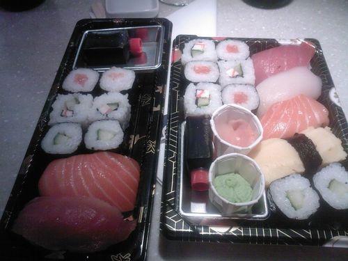 Pause sushis de Lola et de l'ado, bis!!!