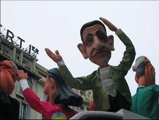 Nicolas Sarkosy, carnaval de Nice 2007